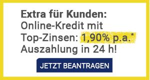 Anadi Online-Kredit jetzt ab 1,90 % Zinsen p.a.